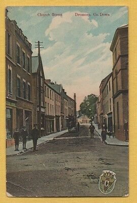 UNUSED DICKSON PUBLISHER of Belfast Postcard CHURCH STREET, Dromore