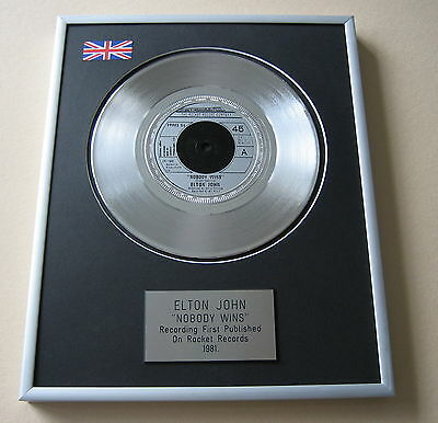 ELTON JOHN Nobody Wins PLATINUM SINGLE DISC PRESENTATION