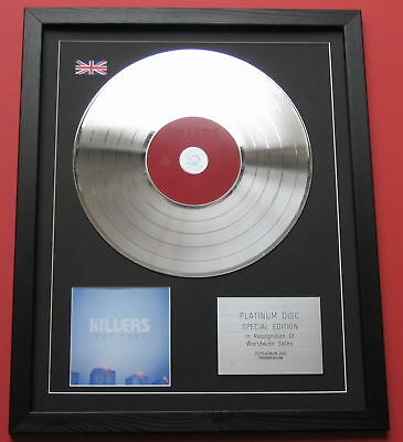 THE KILLERS Hot Fuss CD / PLATINUM LP DISC PRESENTATION