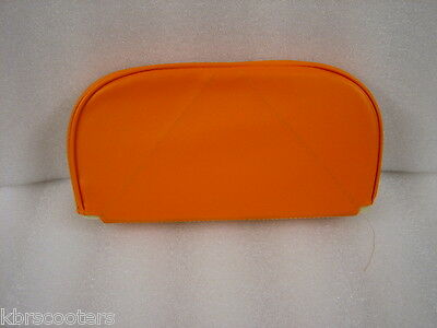 "Lambretta Cuppini Style Slip Over Back Rest Pad In Orange "" Free Postage"""