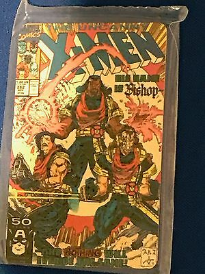 20min Marvel X-Men Comic Book Cover Phone Card: Bishop Phone Card