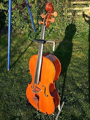 Cello  Gear4music 4/4 Student Full Sized With Hard Case & Bow