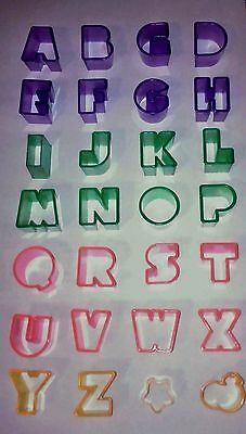 26 Alphabet A To Z Plastic Biscuit Cutters Cookies Cake Decorating Pastry Dough