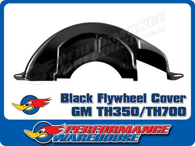Black Steel Flexplate Flywheel Dust Cover Chevy Gm Th350 Th700 Trans