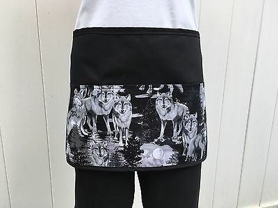 Black Dogs- Wolves 3 Pocket Waitress Waist Apron Restaurant  Classyaprons