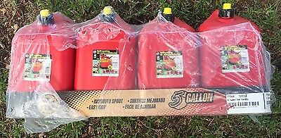 NEW Case of 4 Vintage 2006 BLITZ 5 GALLON Self Venting Gas Can Plastic Red Fuel