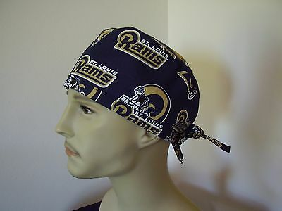 Surgical Scrub Hat/ Cap -NFL-St. Louis RAMS - One size- Handmade- Men Women