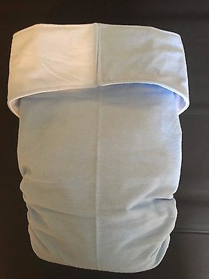 Adult Diaper,Extra Padding, Fully Functional All in One, Baby blue