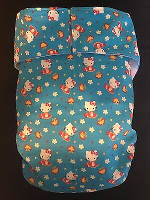 Adult Diaper,Extra Padding, Fully Functional All in One, Hello Kitty blue