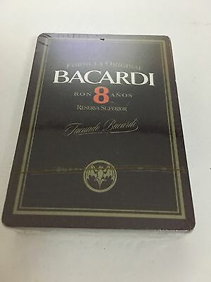 Bacardi Playing Cards. Rum. Ron. 8 Years. Sealed. New.  Rare. FREE SHIPPING.