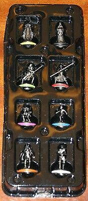 Monopoly Star Wars Episode 1 Pewter Token Figures Complete Set Of 8 Pieces