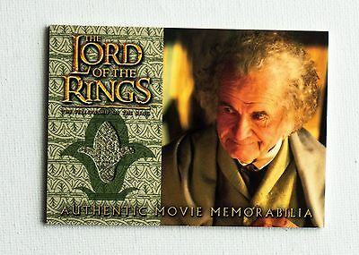 Bilbo Authentic Movie Memorabilia / Lord of the Rings Trading Cards / Rivendell