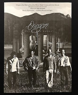 1978 Vintage Print Ad 1970s OREGON Out Of The Woods Album Release Music