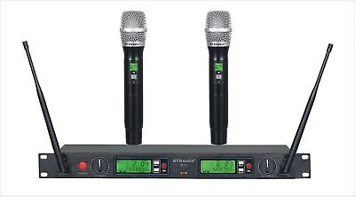 GTD 2 x100 Channel UHF Cordless Wireless Microphone Mic System 500 MHz Band B-22