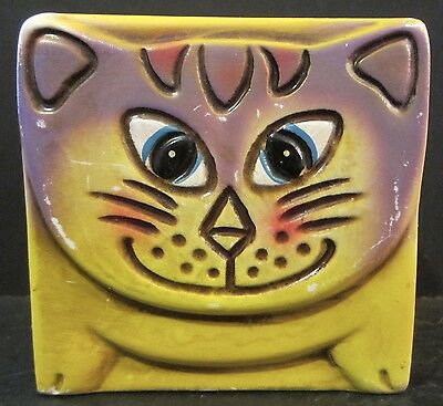 Vintage Norleans Childrens Ceramic Piggy Bank Kitty Cat with Stopper Made Japan