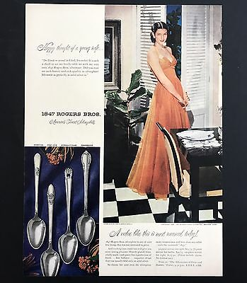 1948 Vintage Print Ad 1940s 1847 ROGERS BROS Silverplate Fancy Dishes Image