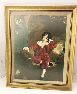 Master Lambton Framed Tapestry with glass face