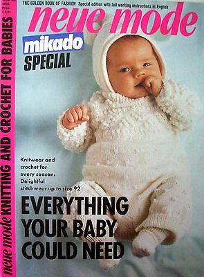 Knitting & Crochet Pattern Book - EVERYTHING YOUR BABY COULD NEED - VGC