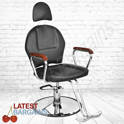 Hairdressing Barber Chair Salon Cutting Seat Headrest Artificial Leather Black