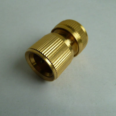 Brass Hose Pipe Fitting / Garden Plant Water Tap Quick Adapter Nozzle Connectors