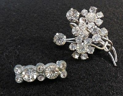 LOT OF 2 - Vintage Rhinestone Pins