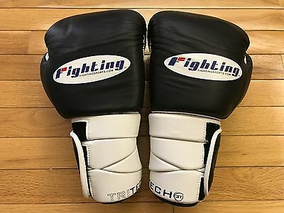 Fighting Sports - Leather Tri-Tech Boxing Gloves 18oz (Black)