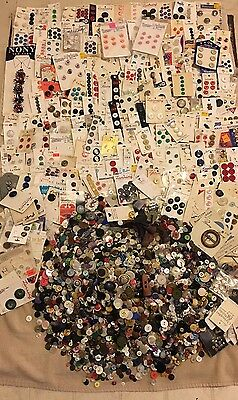 Huge Lot Mixed Buttons Estate Find 19 Pounds Unsearched