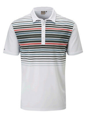 Ping Cortes Tailored Fit Polo - White/Urban Multi