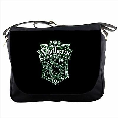 Slytherin Harry Potter logo messenger bag textbook laptop shoulder sling flap