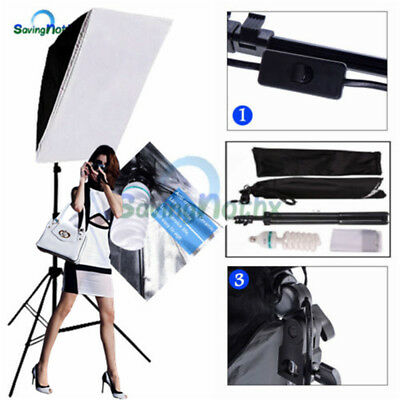 135W Photography Studio Softbox Set Continuous Lighting Soft Box Light Stand Kit