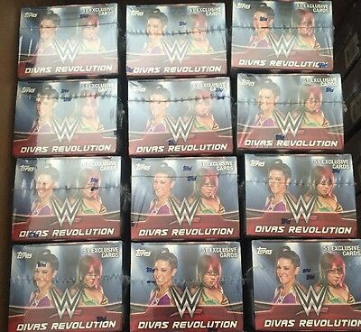 2016 Topps WWE Divas Revolution 8 Box Blaster Lot Factory Sealed Boxes Rare