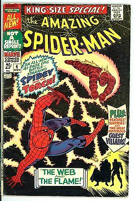 Amazing Spider-Man Annual/Special #4 Marvel 1967 VG/F Spidey vs. Human Torch