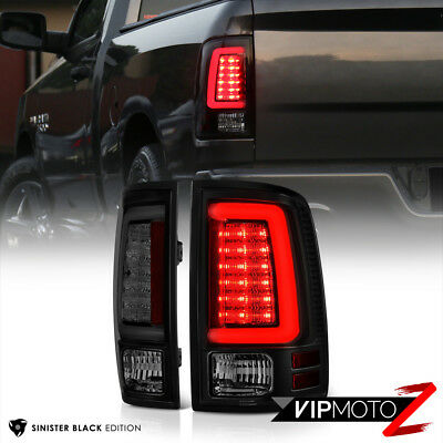 {DARKEST SMOKE} 2013-2017 RAM 1500 2500 3500 LED Tail Lamps Lights Replacement