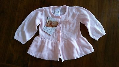 baby baby Girls pink knit cardi sz0 BNWT free post E11