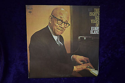 The Eight Six Years of Eubie Blake C2S 847 Record LP 2 Disc set NM