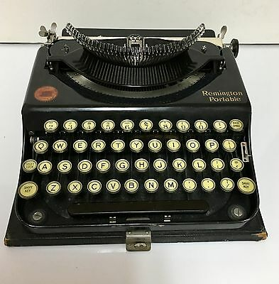Antique 1920's Remington Standard Portable Typewriter, With Case, Working