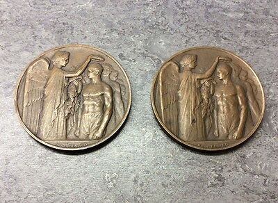 Two Genuine Olympic Medals From 1924 Paris Games ,Bronze Medals. British Sailing