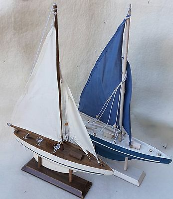 2 Sailing ships, great Deco, Length and Height ca. 35 cm - super for Mini bears