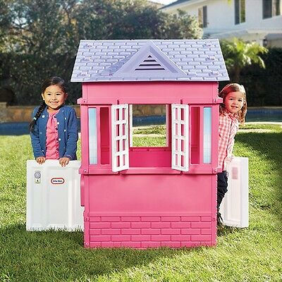 Little Tikes Cape Cottage in Pink Play House, Childrens Indoor/Outdoor Playhouse
