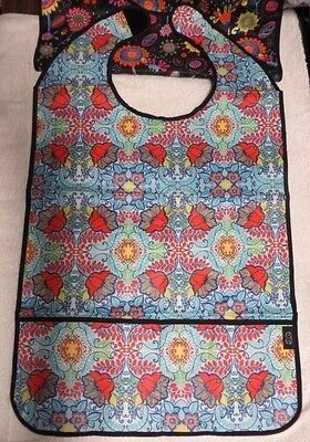 2 Large Waterproof Adult Mealtime Bibs Clothes Protector Dining NEW