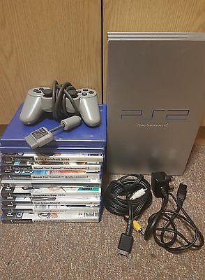 Ps2 bundle (PlayStation 2 silver bundle with games)