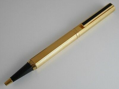 dunhill Dress Gold Plated Pinstripe Ballpoint Pen (used)(NAME ENGRAVED)