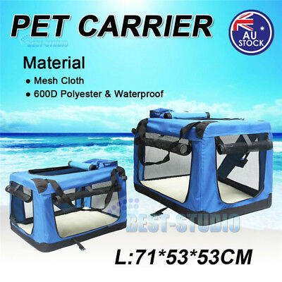 Folding Soft Dog Crate Cage Travel Carrier Carry Bag Puppy Pet Home Kennel House