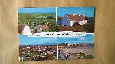 A postcard of multi views of Connemara,Co.Galway,Ireland.I think it's Gaelic?