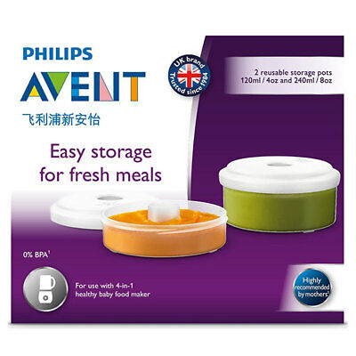 Philips Avent Fresh Food Storage Containers For 4 In 1 Health Baby Food Maker