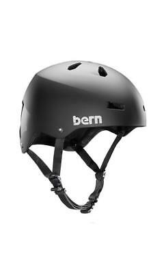 Bern Macon Skateboard Helmet Matte Black in Team Matte Black