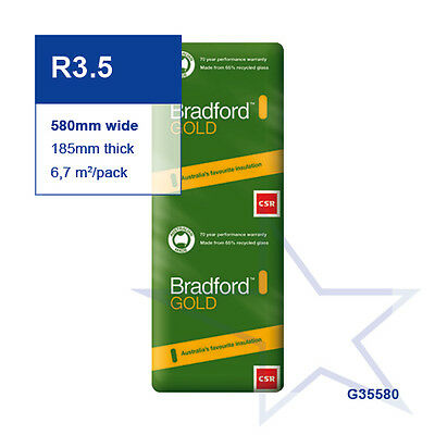 R3.5 | 580mm Bradford Gold™ Thermal Ceiling Insulation