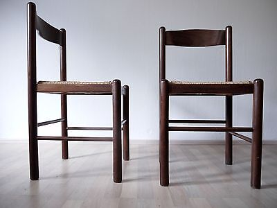 1of4 VINTAGE 1970s 1980s MODERNIST WOODEN DINING CHAIR VICO MAGISTRETTI STYLE