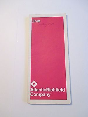 Vintage 1969 ATLANTIC RICHFIELD OHIO Gas Service Station Road Map