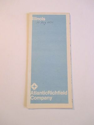 Vintage 1969 ATLANTIC RICHFIELD ILLINOIS Gas Service Station Road Map